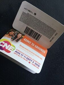 CNE admission entry tickets