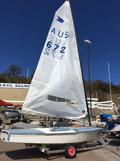 Sailing dinghy - OK Dinghy AUS672