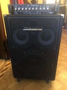Traynor Dynabass 400 Bass Amp + 1510 Cab - Only 500$!