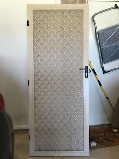 Security screen door with Crimsafe mesh and tri lock