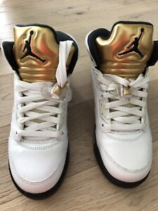 best service 1f859 c961c AIR JORDAN 5 retro  olympic gold  youth size 6 womens size 8