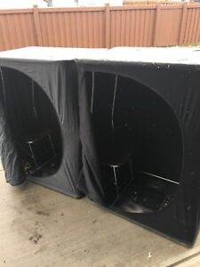 Two Ice fishing tent