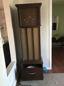 Admiral Mid Century grandfather clock with stereo