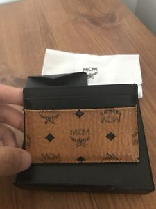100% authentic MCM leather cardholder