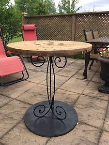 Decorative Industrial Style Table - $60