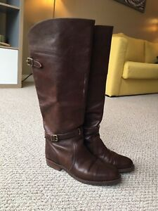Tall leather Frye boots 9