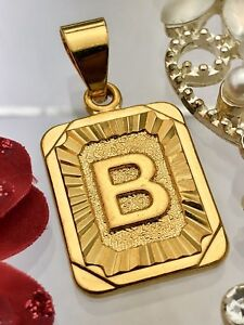New! Gold coloured initials letter B pendant charm