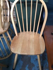 6 Light Wood Dining Chair 60 For The Lot Dining Chairs Gumtree