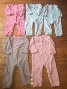 Baby Girl Fleece Sleeper/Jumpsuits