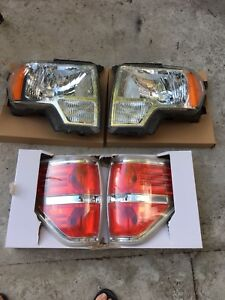 Stock 2009-2014 F-150 Headlights and Taillights