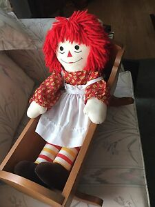 RAGGEDY ANNE with CRADLE