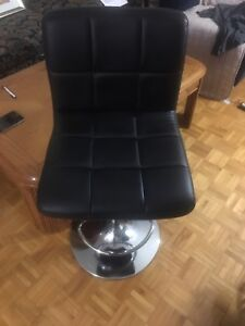 Black leather office chair 80$