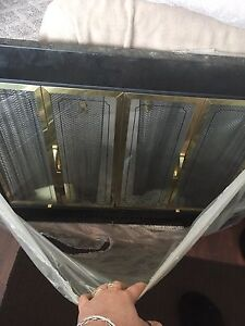Wood fireplace glass custom door insert
