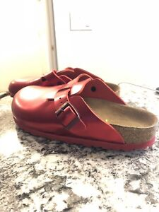 New Birkenstock red size 7 24 cm  perfect for Christmas