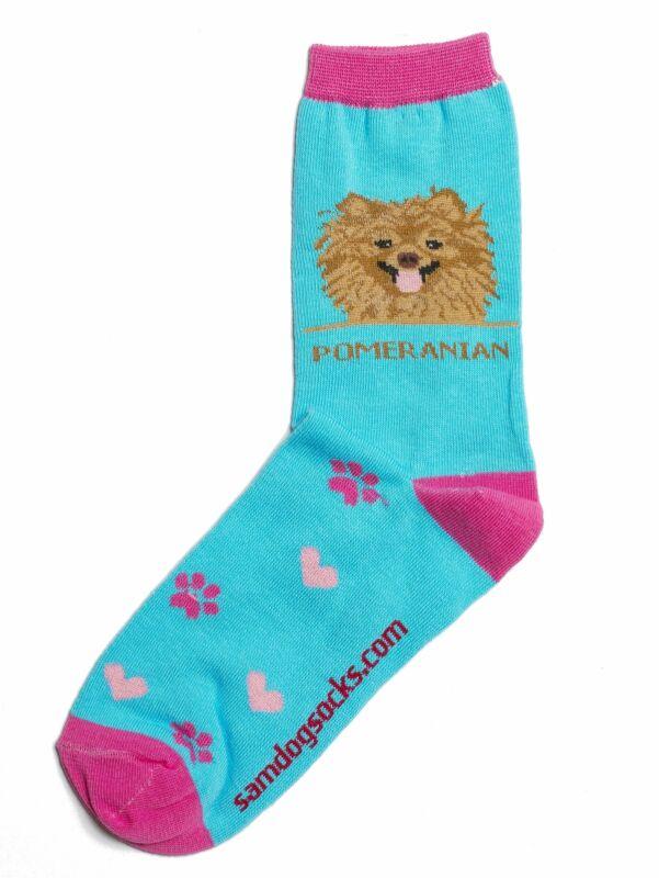 Pomeranian Brown Dog Socks