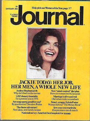 LADIES' HOME JOURNAL MAGAZINE JANUARY 1976 (VG) JACKIE KENNEDY ONASSIS