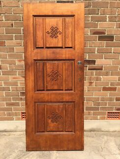 Solid timber carved door