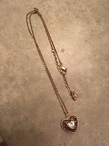 Swarovski rose gold heart pendant