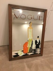 Vintage Vogue Bar Mirror