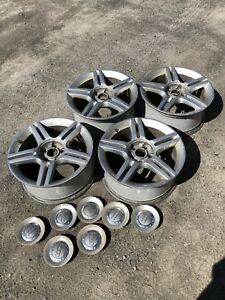 5 OEM Audi VW mags rims 5x112 one with Goodyear tire