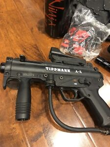 Paintball gun and gear. Tippman A-5 USED ONCE.