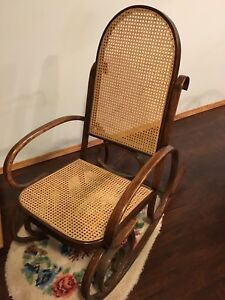 Wicker wood rocking chair