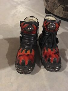 Flame goth boots