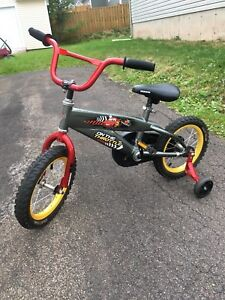 "14"" McQueen bike (training wheelers included)"