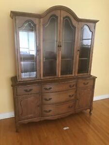 Two piece dining room buffet (Fruitwood) $100 or best offer