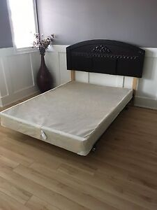 Double headboard...rails and boxspring