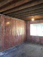 Drywall, insulation, flooring, plaster, asbestos&mould removal