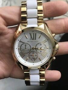 White & Gold Women's Michael Kors Watch