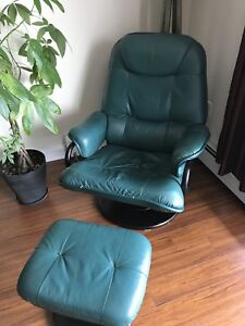 Leather Chair and ottoman OBO