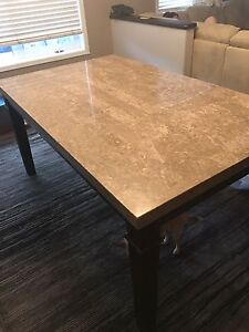 REDUCED!! Marble top dining table