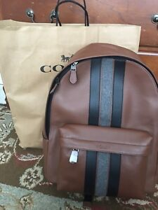Brand new back pack Coach New York full leather bag .