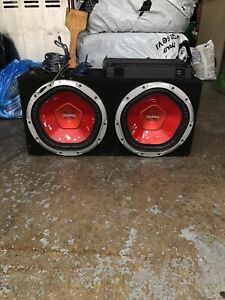 12 inch subs and amp