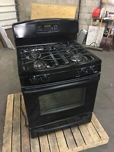 """*** GE Profile 30"""" Gas Stove *** Black - Barely Used"""