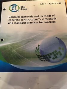 CSA Concrete materials, test methods and standards