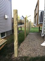 Fence construction Post holes/install