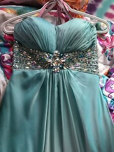 Light blue/ turquoise prom dress!