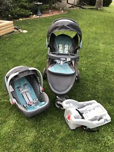 Graco 3 piece click connect stroller system