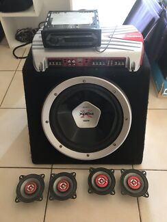 Sony car sound system - speakers, subwoofer, amplifier, CD player