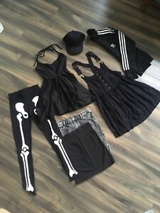 Womens XS/S Goth Athletic wardrobe