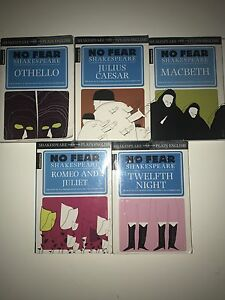 Books collection No Fear Shakespeare