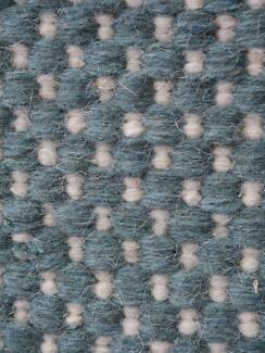 New Bayliss Grain Denim Ivory Pure Wool Flatweave Rugs