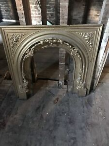 Cast iron fireplace mantels