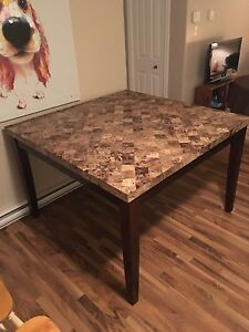 Marble Pub Style Table