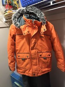 boys size 8 Oshkosh snow suit + neck warmer & hat.$55