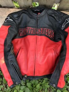 Alpinestar leather armoured motorcycle jacket