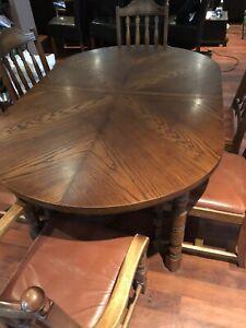6 seater hardwood dining setting